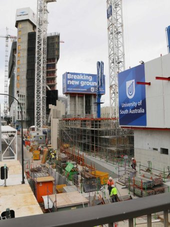Construction for Adelaide's Health and Biomedical precinct