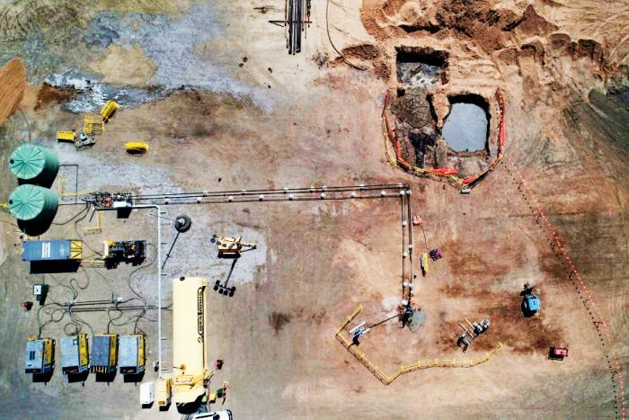 UCG trial site at the old Leigh Creek coal mine