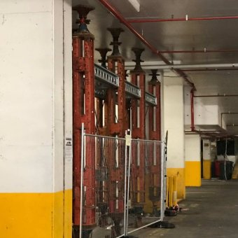 Support beams in carpark