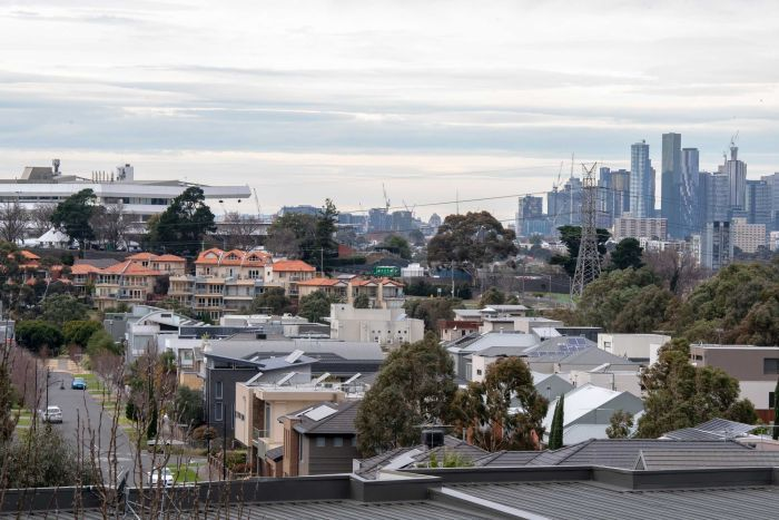 A view of Melbourne and its surrounding suburbs