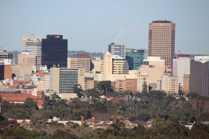 The Skyline of Adelaide looking south