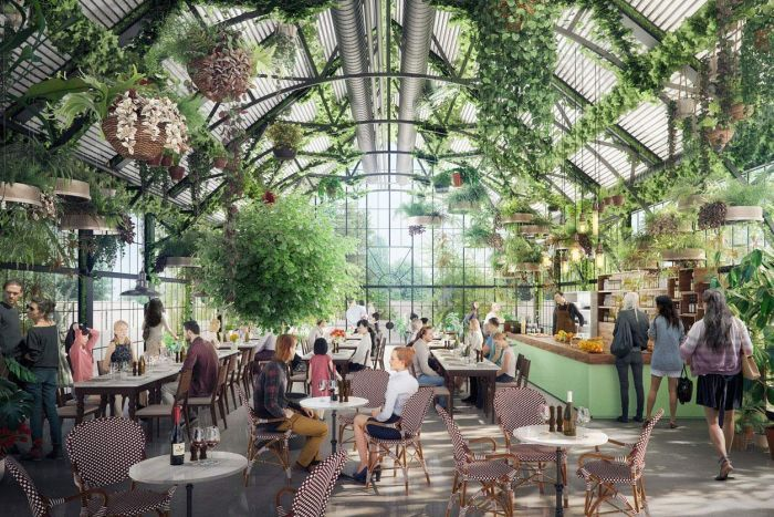 Artist impression of inside of planned 'sustainable shopping centre' in suburban Melbourne.