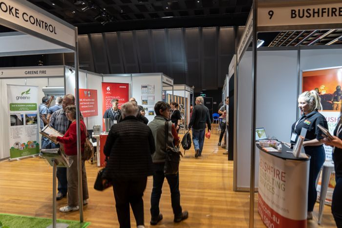 Blue Mountains residents at the Australian Bushfire Building Conference.