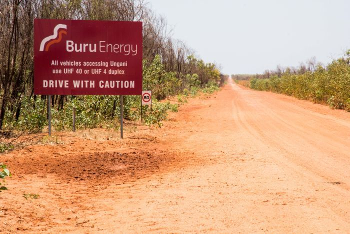 The red dirt road to Buru Energy's Ungani oilfield.