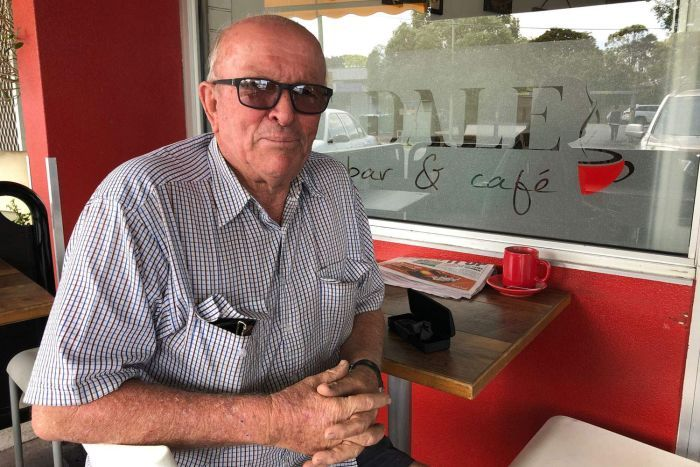 Rochedale South resident Barry Steffens speaks to the ABC while sitting at a local cafe.